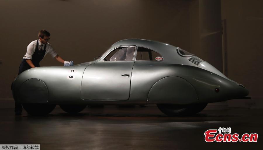 A rare Porsche will be crossing the auction block this summer during Monterey Car Week. Scheduled to see the limelight at the RM Sotheby's auction in August is a fully restored 1939 Porsche Type 64, which is considered Porsche's first-ever automobile.(Photo/Agencies)