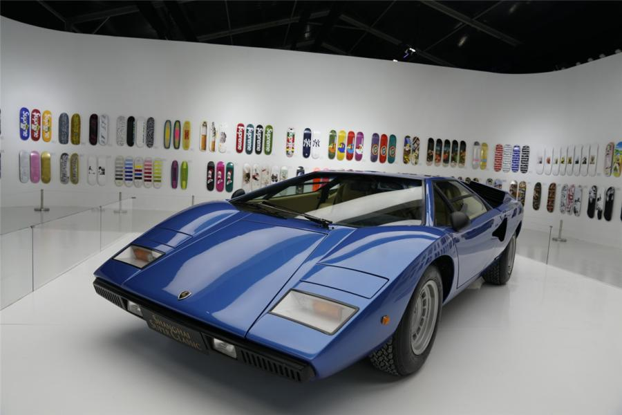 The Countach entered production as the LP400 with a 3.9 L engine delivering 276 kW. (Photo/chinadaily.com.cn)