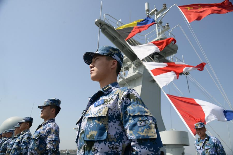 The training vessel takes the graduating cadets along the coastline of China.  (Photo provided to chinadaily.com.cn)