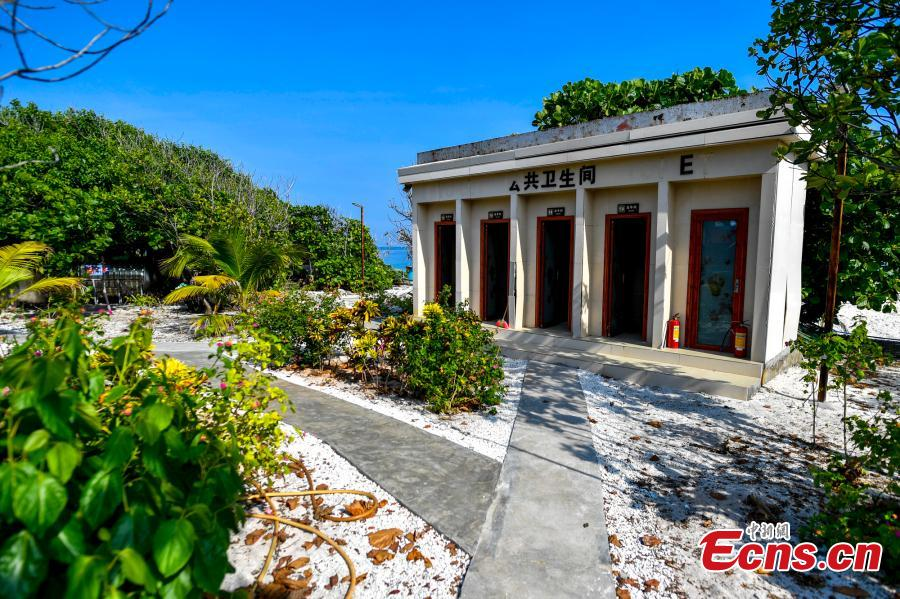 A public toilet on Ganquan Island in the Xisha Yongle Islands group in South China\'s Hainan Province, May 22, 2019. (Photo: China News Service/Luo Yunfei)
