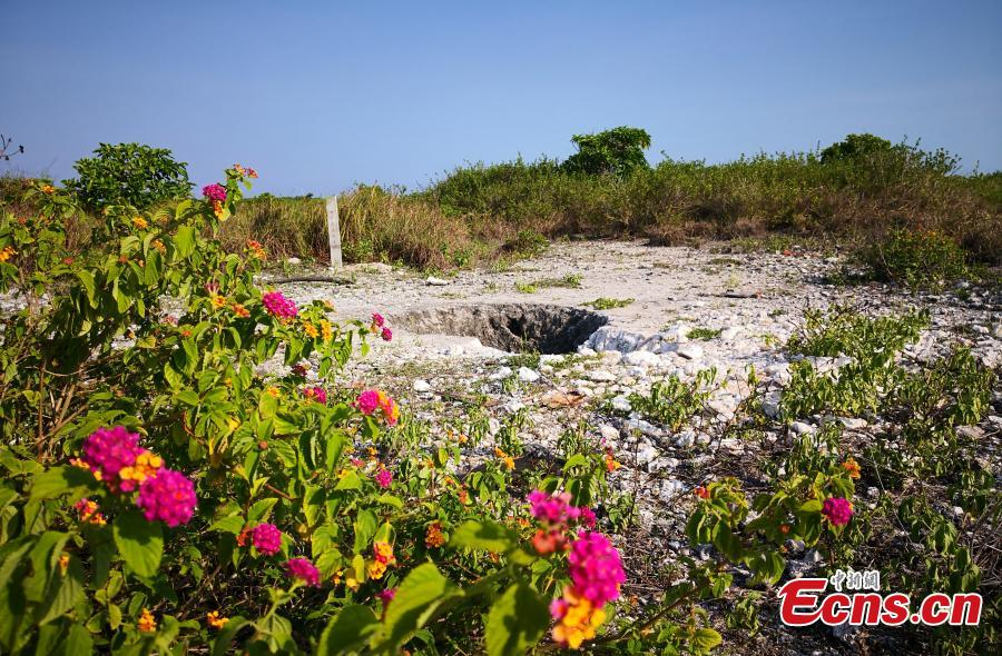 A freshwater well on Ganquan Island in the Xisha Yongle Islands group in South China\'s Hainan Province, May 22, 2019. (Photo: China News Service/Yin Haiming)