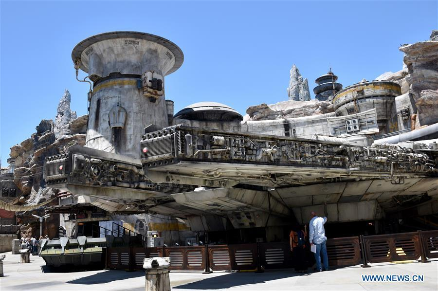 Millennium Falcon, Smugglers Run ride, is seen in the new \