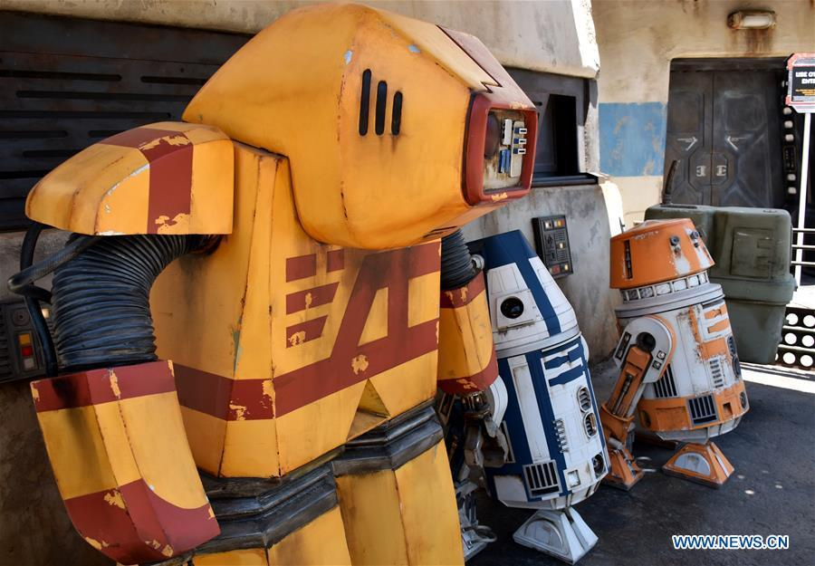 Photo taken on May 28, 2019 shows robots in \
