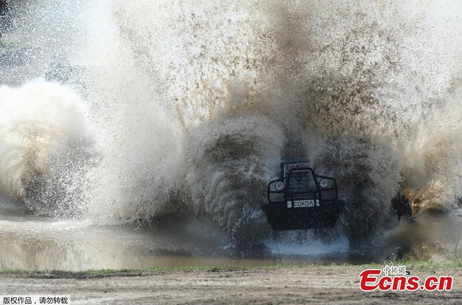 A participant attends a regional?tractor?racing competition Bizon-Track-Show outside of Rostov-on-Don, Russia June 2, 2019.(Photo/Agencies)