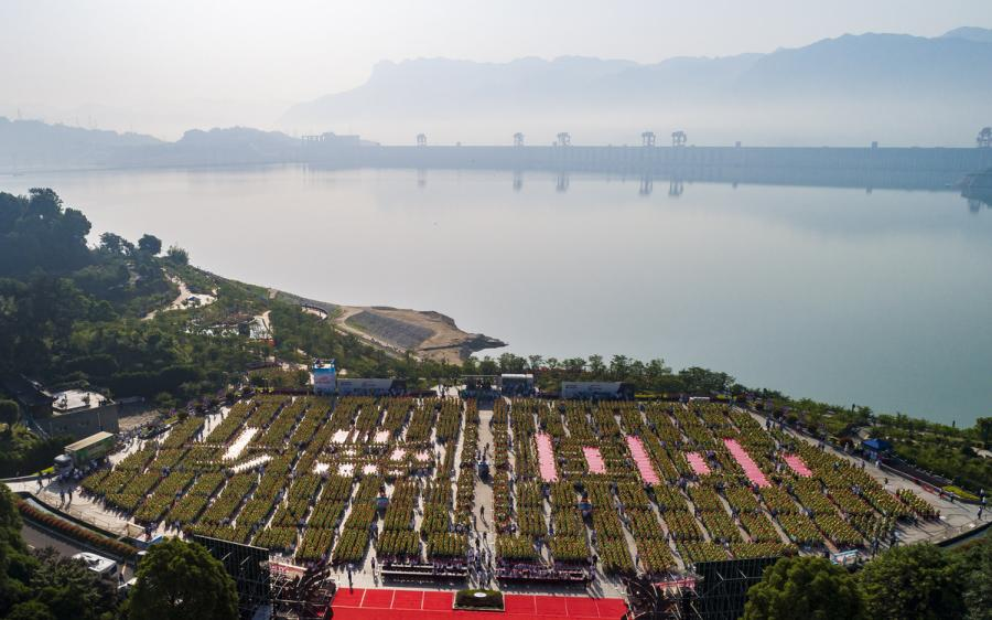 The event is held in the Cultural Tourist Area of Qu Yuan\'s hometown, Zigui county, June 3, 2019. (Photo Provided to chinadaily.com.cn)