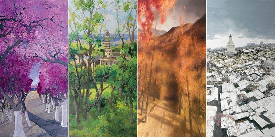 (From left to right) Beijing in Four Seasons- Spring, by Li Jiangfeng, Beijing in Four Seasons- Summer, by Lei Bo and Zhuang Zhong, Beijing in Four Seasons- Fall, by Ma Lin and Beijing in Four Seasons-Winter, by Bai Yuping.