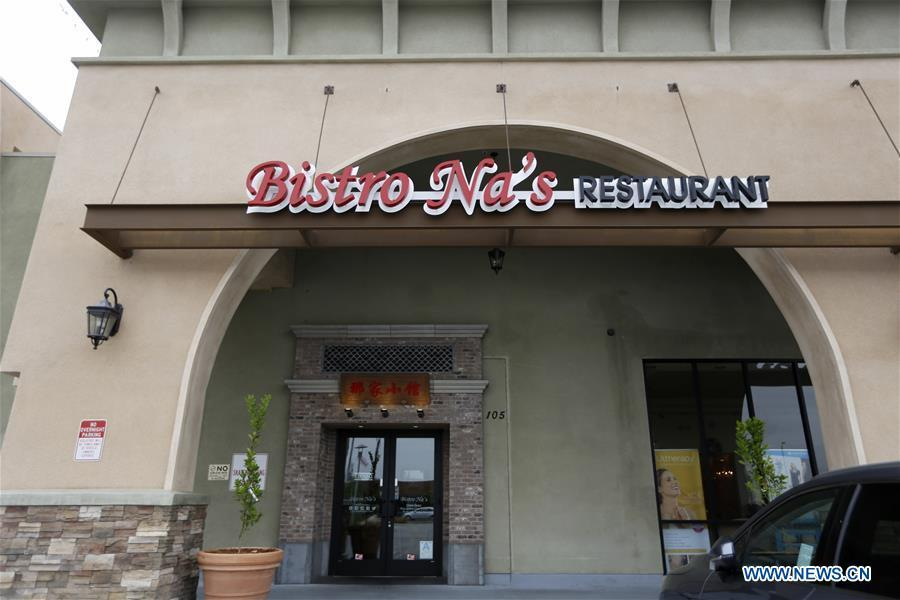Photo taken on June 7, 2019 shows the exterior view of Bistro Na\'s in Temple City, Los Angeles, the United States. Bistro Na\'s in Los Angeles made headlines this week with the announcement that it had been awarded a coveted Michelin Star by the famed Michelin Restaurant Guide. This special ranking broke Michelin\'s 10-year absence from Los Angeles, and made Bistro Na\'s the only Chinese restaurant in Southern California to be so honored. (Xinhua/Li Ying)