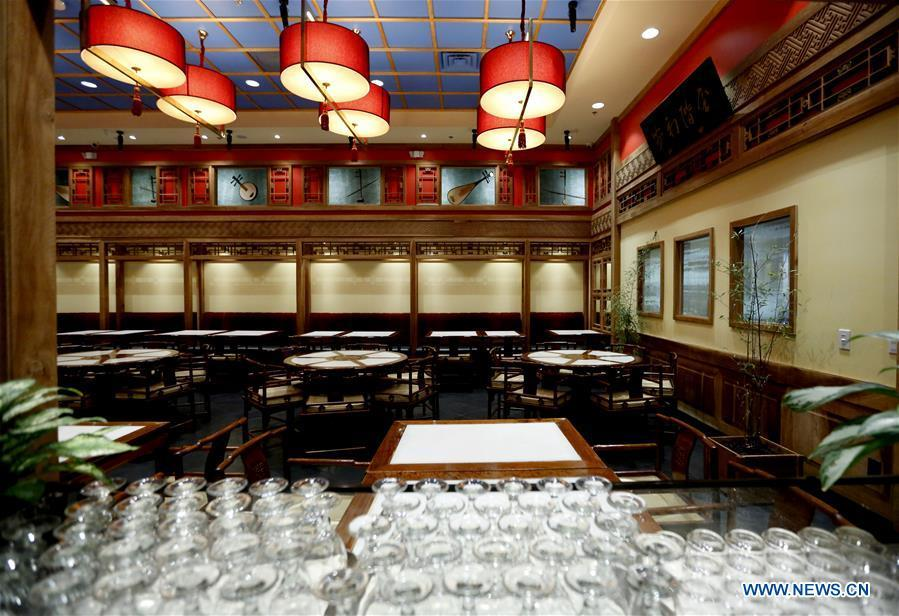 Photo taken on June 7, 2019 shows the interior view of Bistro Na\'s in Temple City, Los Angeles, the United States. Bistro Na\'s in Los Angeles made headlines this week with the announcement that it had been awarded a coveted Michelin Star by the famed Michelin Restaurant Guide. This special ranking broke Michelin\'s 10-year absence from Los Angeles, and made Bistro Na\'s the only Chinese restaurant in Southern California to be so honored. (Xinhua/Li Ying)