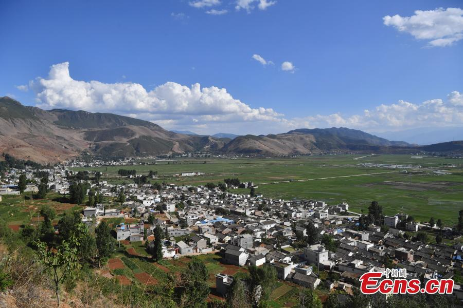 Photo taken on June 5, 2019 shows Baiwu Village located in Nagu Township, Huize County, Yunnan Province. For many centuries this place was an important trading center that revolved around the copper industry. In addition to the beautiful landscape, the village has many well-preserved buildings that date back to Ming and Qing dynasties. In 2005, Baiwu Village was recognized as a Chinese Famous Village of Culture and History. (Photo: China News Service/Liu Ranyang)