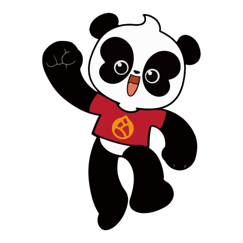 A Cartoon depicts A Pu, emblem of giant pandas. (Photo provided to China Daily)