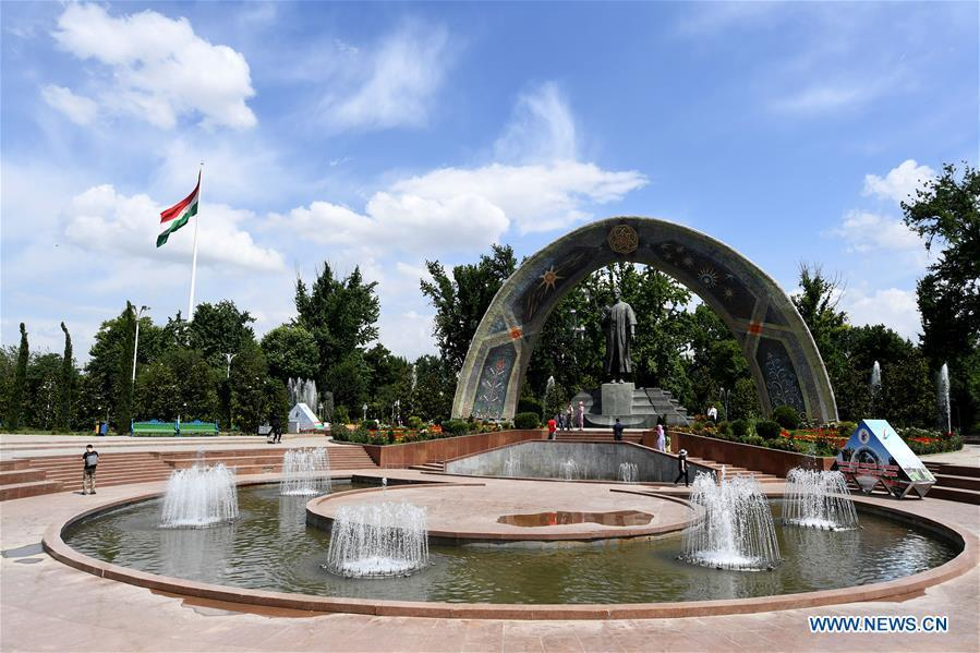 <?php echo strip_tags(addslashes(Photo taken on June 11, 2019 shows the Rudaki Park in Dushanbe, capital of Tajikistan. (Xinhua/Sadat))) ?>