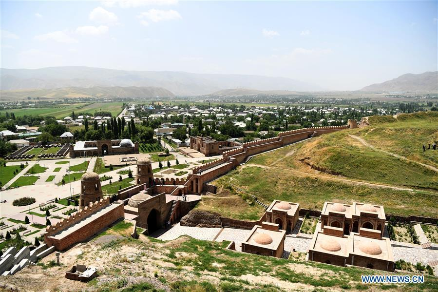 Photo taken on June 12, 2019 shows the view of Hisor Fortress in Hisor, west of Dushanbe, Tajikistan. (Xinhua/Sadat)