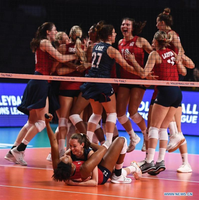 U S  wins 2019 FIVB Volleyball Nations League Finals Women