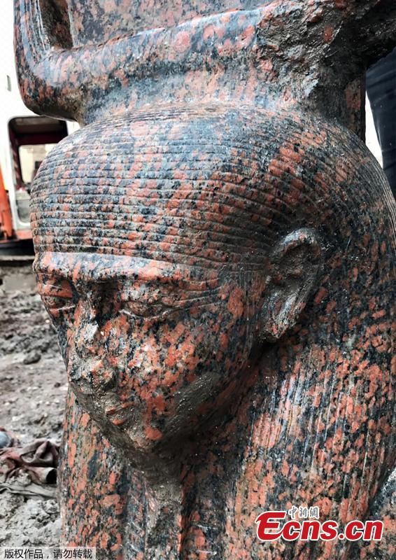 Image result for Egypt unveils 'rare' ancient pharaoh bust