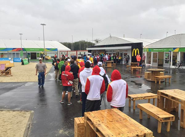McDonald's in Olympic Village puts a limit on the amount of food athletes can order