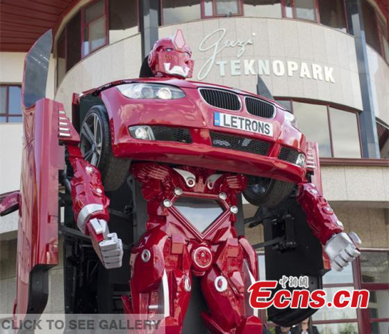 Turkish company creates real-life car-morphing Transformers