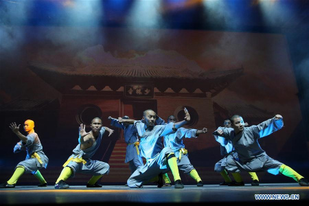 Chinese monks from Shaolin give Kung Fu show in Greece