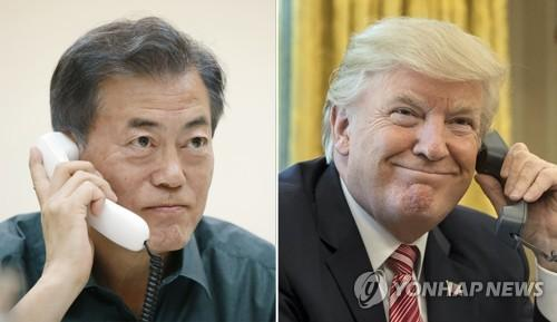 U.S., South Korean leaders say to work closely for success of Trump-Kim meet