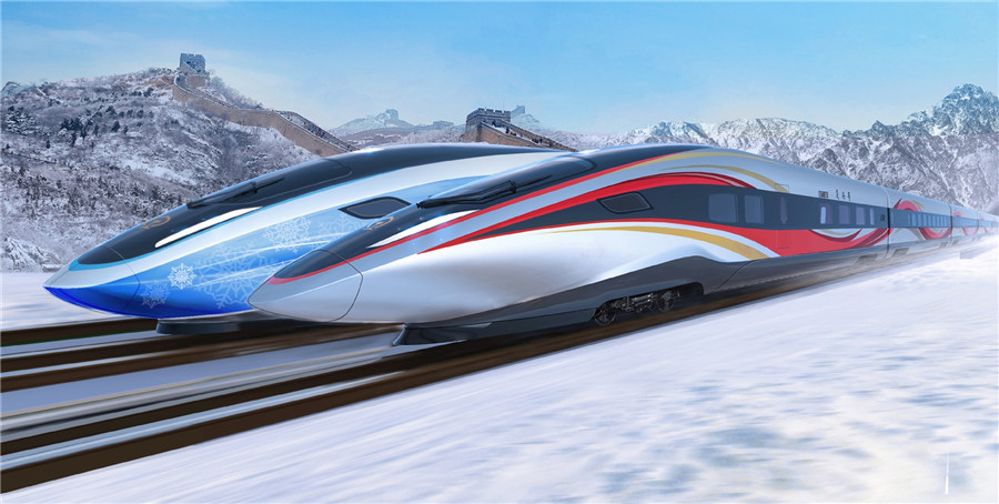 Olympic trains' winning design unveiled
