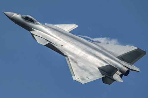 A J-20 stealth fighter is seen at a 2016 air show in Zhuhai, Guangdong Province. (Photo/Provided to China Daily)