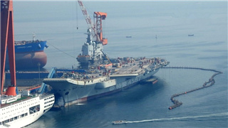 Helicopter maneuvers suggest China's new aircraft carrier ready for sea trials