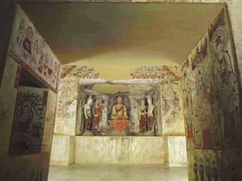 Replicas of eight caves in Mogao Grottoes on exhibition in Shanghai