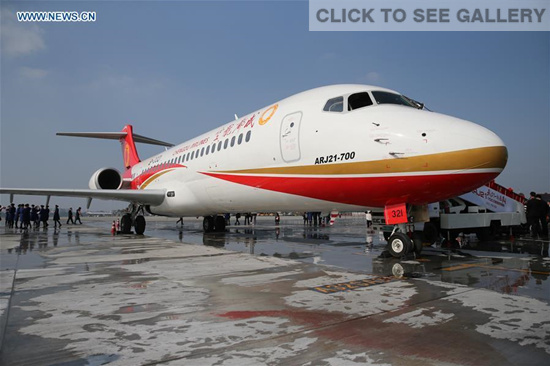 China's first regional jet delivered