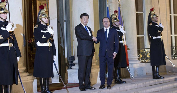 Chinese president meets French counterpart in Paris
