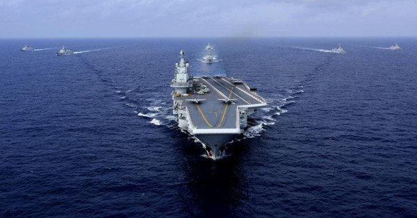Carrier leads exercise in west Pacific