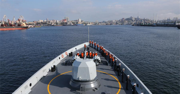 Chinese naval fleet arrives in Vladivostok for Joint Sea 2017