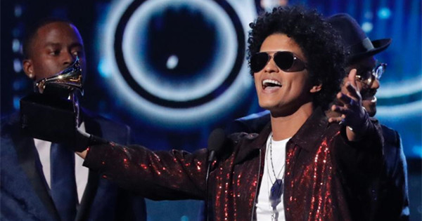 Bruno Mars triumphs at Grammys