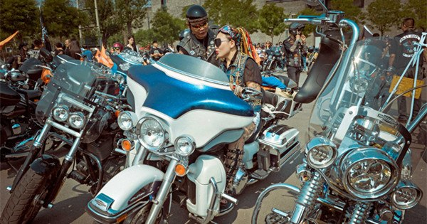 550 Harley-Davidson motorcycles rally in Tianjin