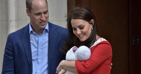 Britain's Princess Kate gives birth to third child