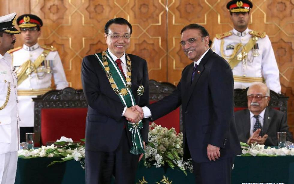 Chinese premier attends medal conferring ceremony in Islamabad
