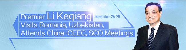 Li Keqiang visits Romania, Uzbekistan