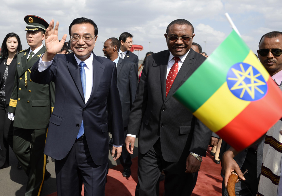 Chinese premier arrives in Addis Ababa for Ethiopia visit