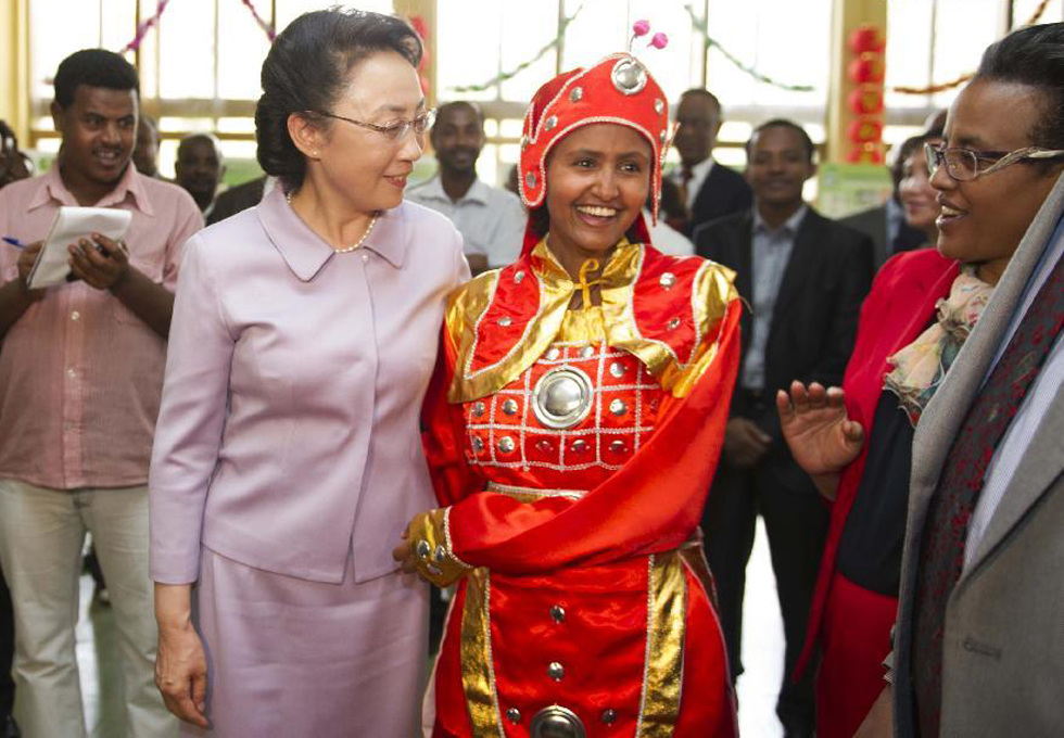 Chinese premier's wife visits Addis Ababa University