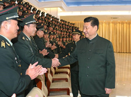 Chinese president inspects PLA garrison in Macao