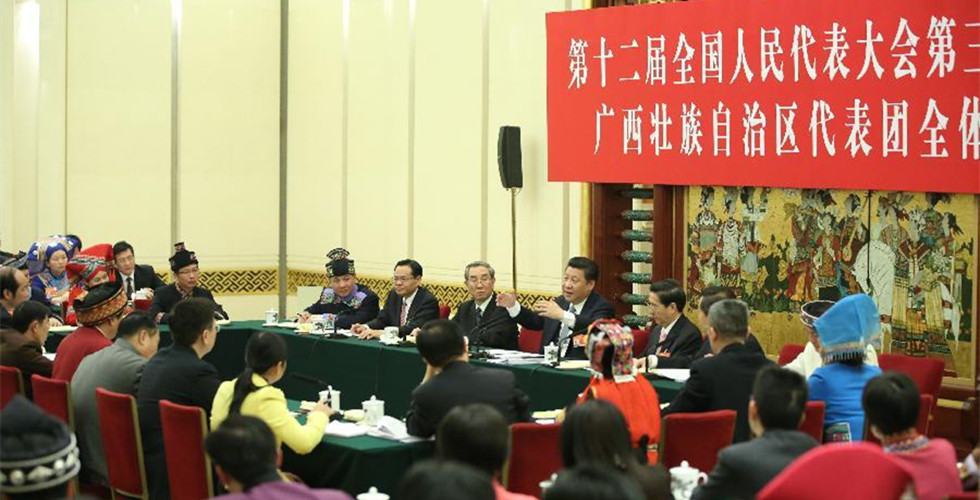 Xi joins discussion with NPC deputies from Guangxi