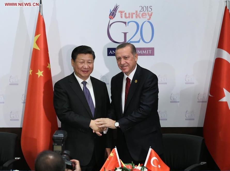 Chinese president arrives in Turkey for G20 summit