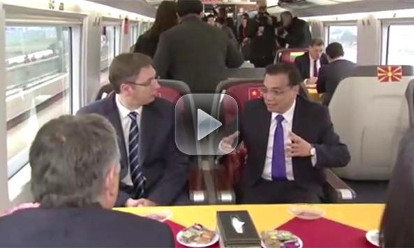 Li treats CEE leaders to high-speed train ride