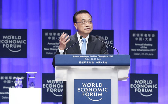 Premier Li addresses Summer Davos Forum 2017