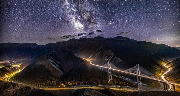 Beautiful night sky in Kanas, Xinjiang