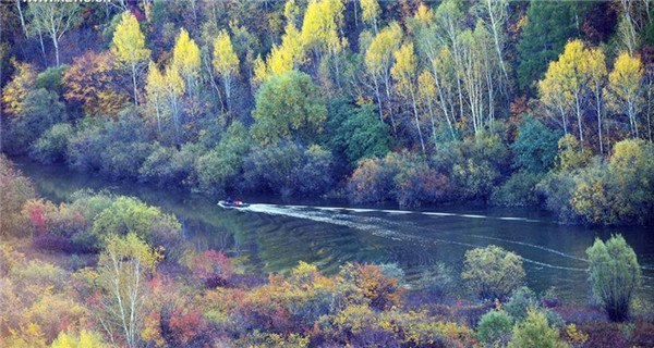 Autumn scenery of Huma County in Heilongjiang