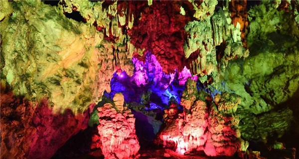 Scenery of underground Dragon Cave in Yunnan