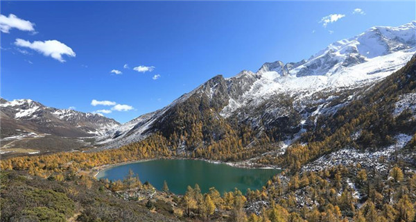 Scenery of Yala mountain in Sichuan