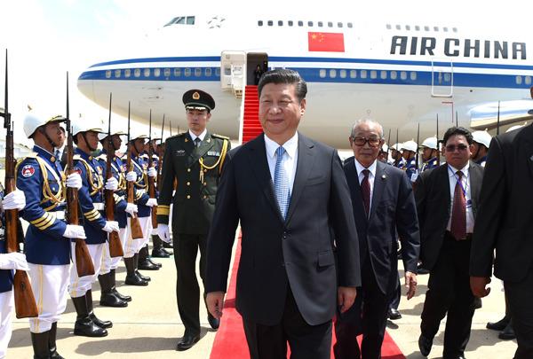 President Xi visits Cambodia, Bangladesh, attends BRICS summit in India