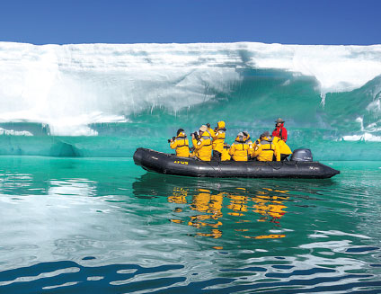 Visitors tour Antarctica in January. According to Tuniu, a travel website, in the past Spring Festival, about 10 Chinese visitors, who are mostly from Shanghai, booked tours to the continent. Wang Yanan / For China Daily