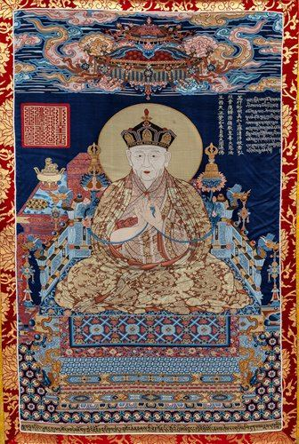 A replica of a Ming Dynasty thangka (Photo/Courtesy of Capital Museum)
