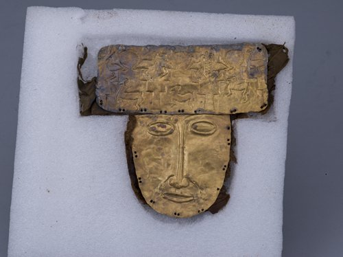 The Zhang Zhung gold mask (Photo/Courtesy of Capital Museum)